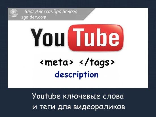 Youtube ключевые слова